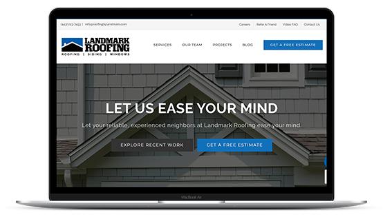 Landmark Roofing Website